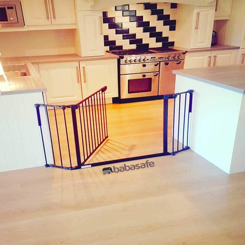 3 Panel Extra Wide Stair Gate Babasafe Co Uk